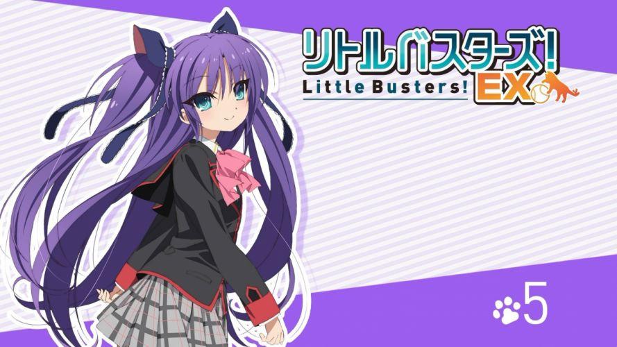 little busters! long hair sasasegawa sasami seifuku skirt tagme (artist) twintails wallpaper