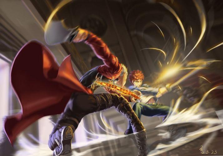 male archer emiya shirou fate stay night male scrap iron sword weapon wallpaper