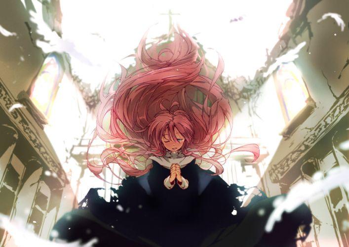 long hair megurine luka pink hair tagme (artist) vocaloid wallpaper