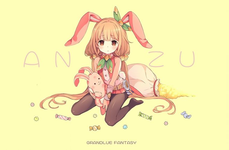 animal ears blonde hair bunny bunnygirl candy cosplay crossover futaba anzu idolmaster long hair pantyhose tagme (artist) twintails wristwear wallpaper