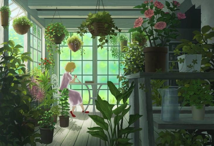 book dress flowers leaves nauimusuka original rose scenic wallpaper