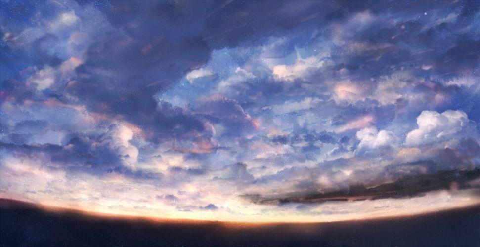 bou nin clouds nobody original scenic sky sunset wallpaper