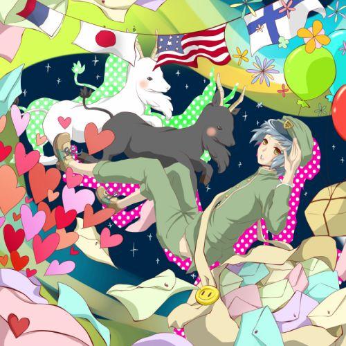 Vocaloid Box Waving Midair Sparkles wallpaper