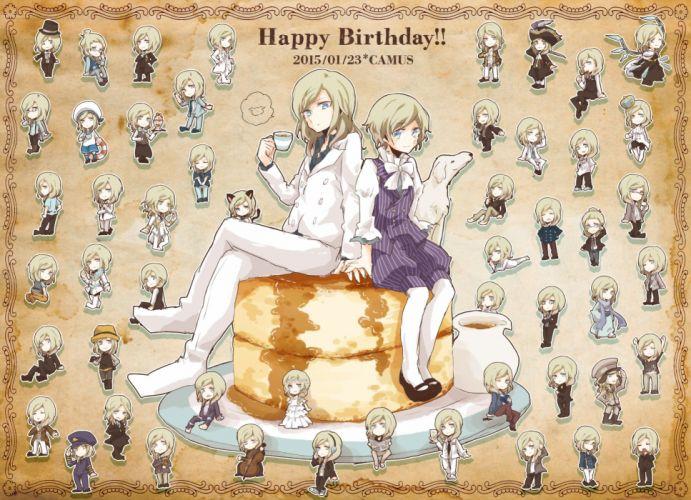 Uta no prince-sama Camus (Utapri) Plate Little Boy Holding Drink wallpaper