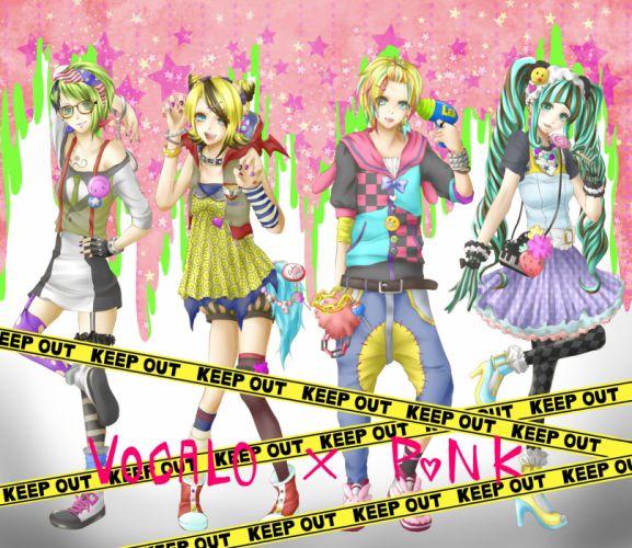 Vocaloid Hatsune Miku Kagamine Len Kagamine Rin GUMI wallpaper