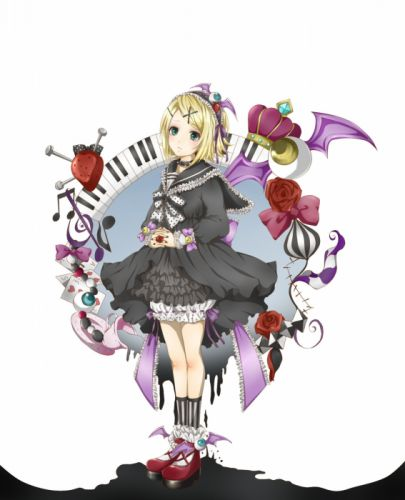 Vocaloid Kagamine Rin Platform Shoes Clasped Hands Bloomers wallpaper