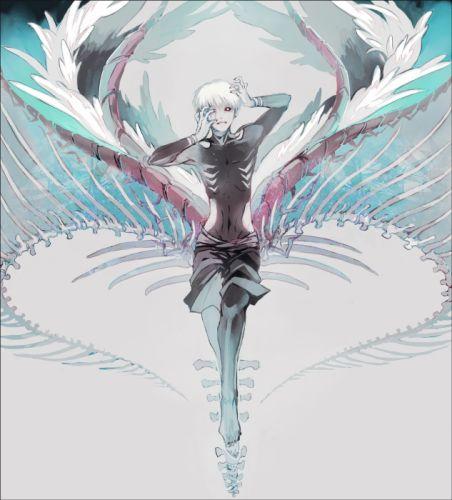 Tokyo Kushu Kaneki Ken Black Nails White Wings Symmetry wallpaper