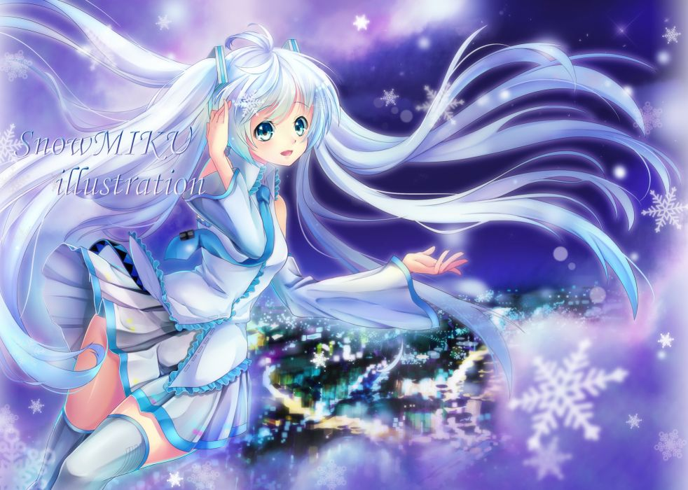 Vocaloid Hatsune Miku Outfit Adaptation Pleated City wallpaper