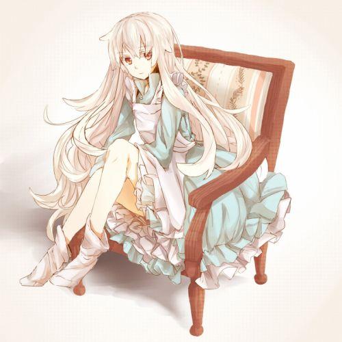 Kagerou Project Kozakura Marry Chair Gradient Background Armchair wallpaper