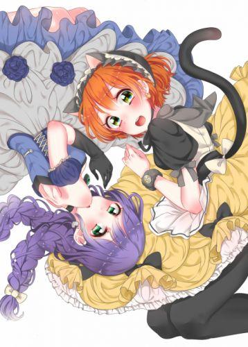 Love Live! Hoshizora Rin Toujou Nozomi Cat Tail wallpaper