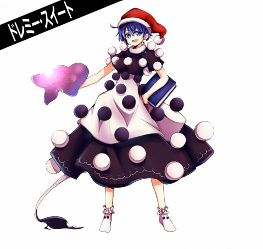 Touhou Doremy Sweet Pom Pom (Clothes) Christmas Hat Holding Book wallpaper