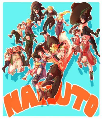 NARUTO Uzumaki Himawari Hyuuga Hinata Yamanaka Inojin Sai wallpaper