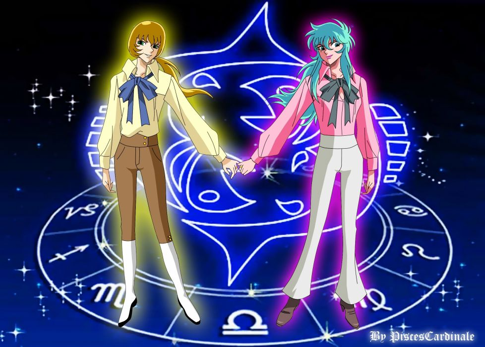 Saint Seiya Soul Of Gold Pisces Cardinale and Pisces Aphrodite wallpaper