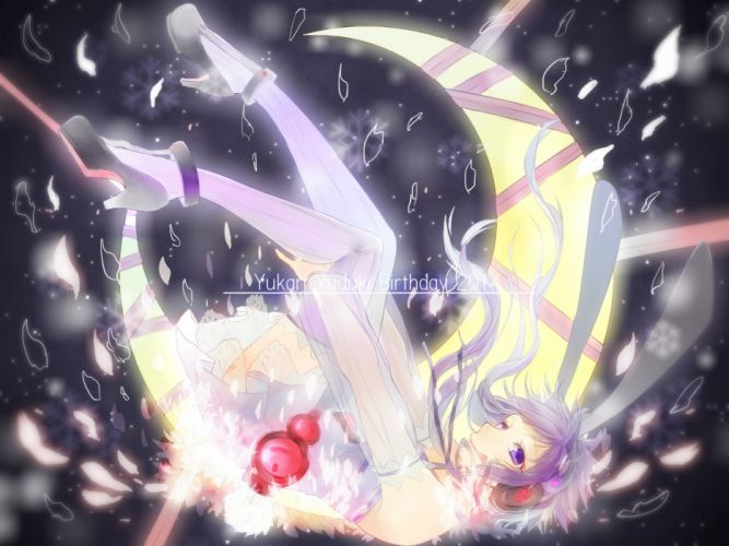 Voiceroid Vocaloid Yuzuki Yukari Purple Outfit Purple Legwear wallpaper