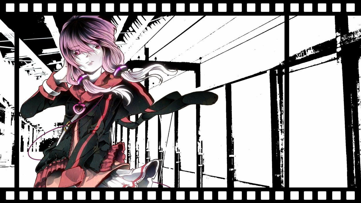 Voiceroid Vocaloid Yuzuki Yukari Train Station Sidelocks wallpaper
