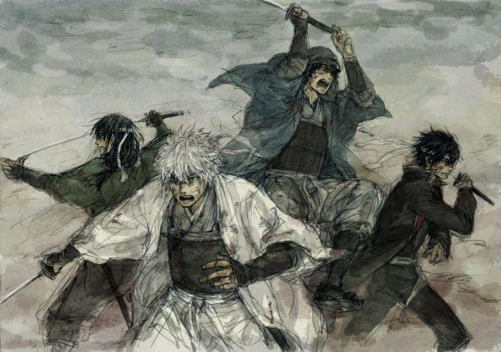 Gin Tama Takasugi Shinsuke Sakata Gintoki Shiroyasha Sakamoto Tatsuma wallpaper