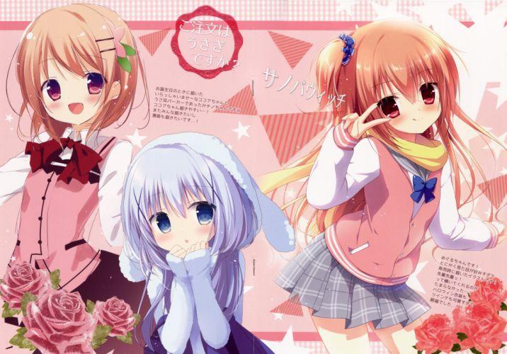 Gochuumon wa Usagi Desu ka Couleur Vive 3 Sanoba Witch Kafuu Chino wallpaper