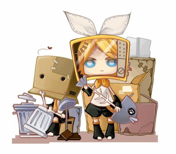 Vocaloid Kagamine Len Kagamine Rin Box Holding Object wallpaper