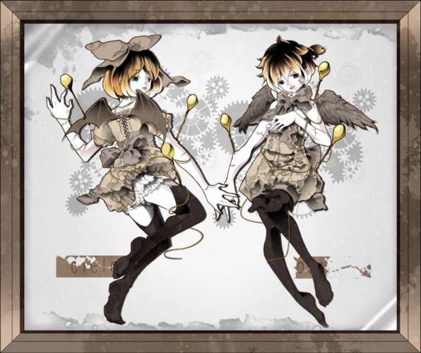 Vocaloid Kagamine Len Kagamine Rin Splatter Beads wallpaper
