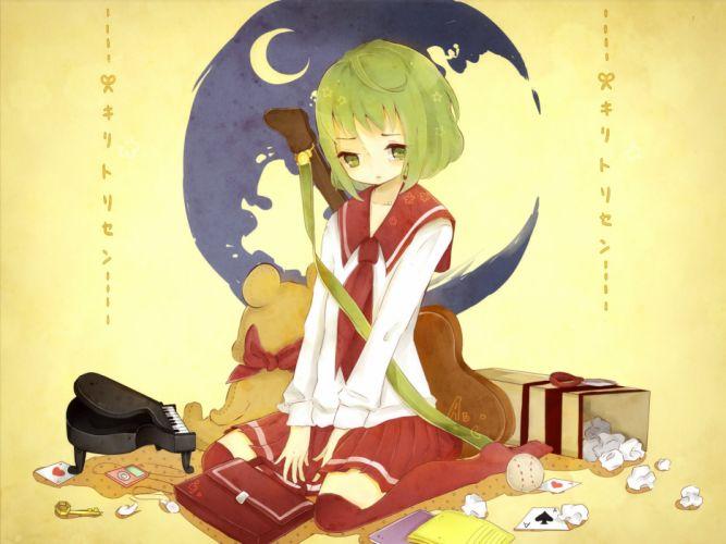 Vocaloid GUMI Crescent Moon Card wallpaper