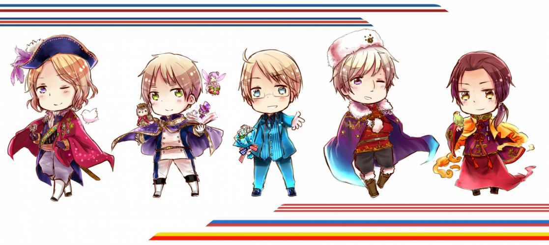 Axis Powers Hetalia France United Kingdom United States Russia wallpaper