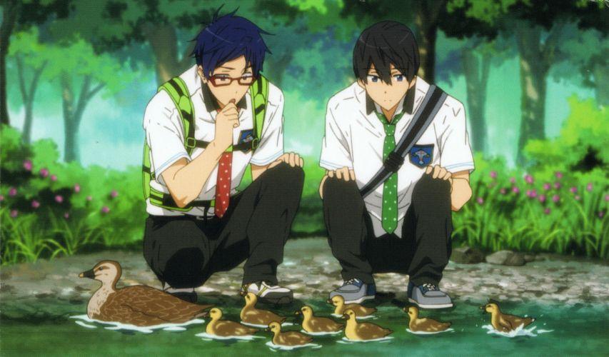 Free Nanase Haruka (Free!) Duckling River Ducks wallpaper