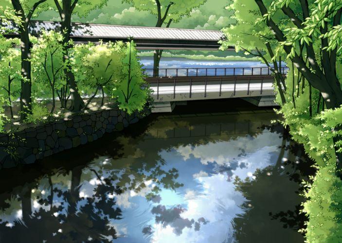 Scenery Reflection Bridge original wallpaper