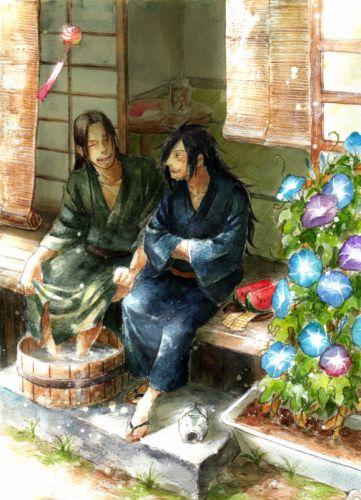 NARUTO Senju Hashirama Uchiha Madara Friends Purple Flower wallpaper