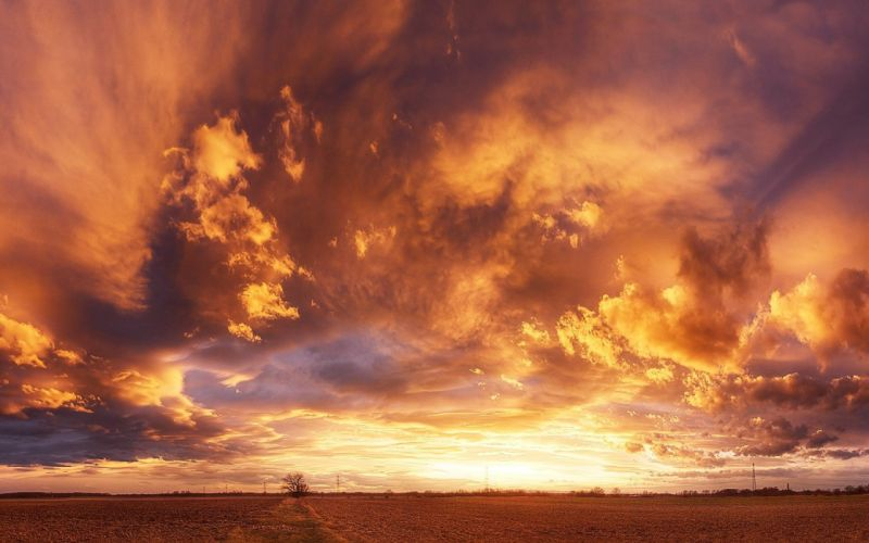 landscape sky beautiful clouds wallpaper