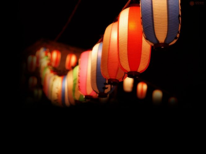 night lantern beauty wallpaper