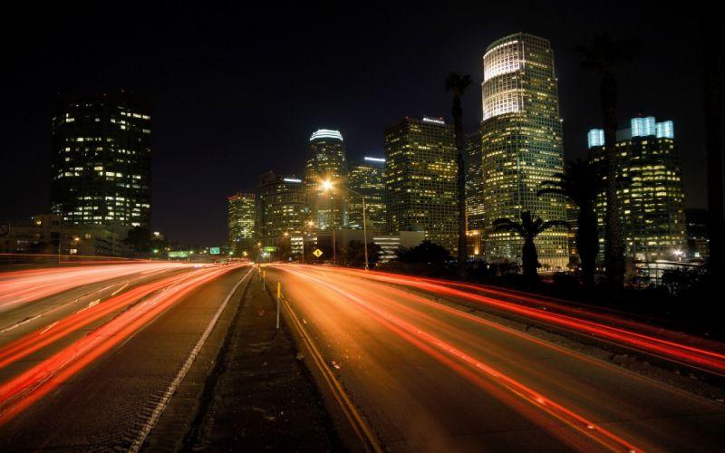 city night light beauty road wallpaper
