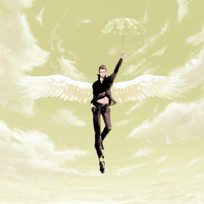 angel anime boy wings wallpaper