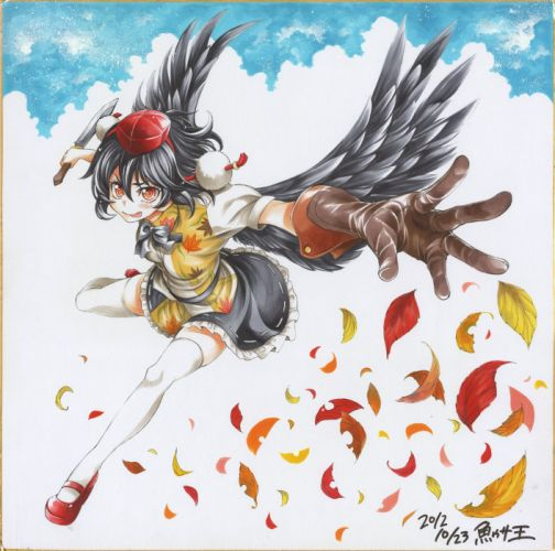 anime series touhou girl charcters wallpaper