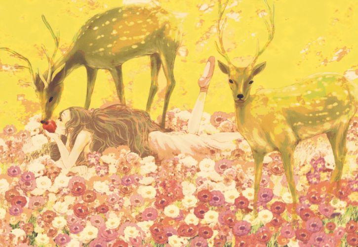 anime series characters code geass girl flower dress wallpaper