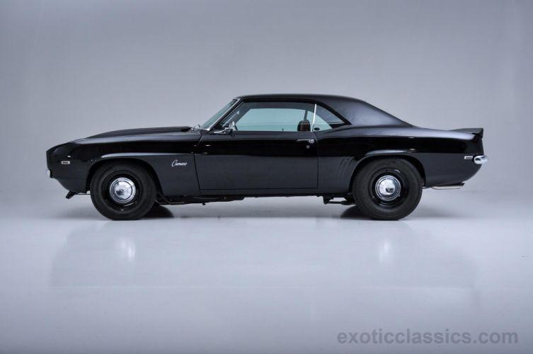 1969 Chevrolet Camaro ZL-1 COPO Recreation coupe cars classic black wallpaper
