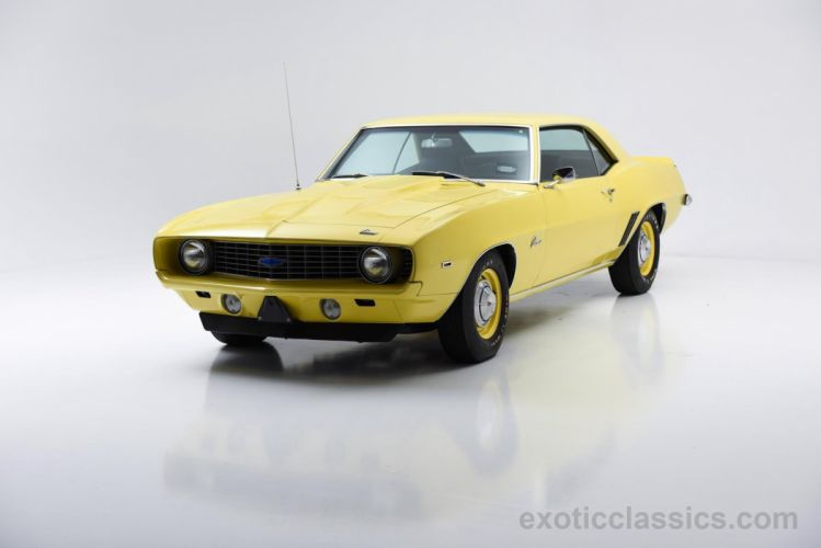 1969 Chevrolet Camaro ZL-1 COPO Recreation coupe cars classic yellow wallpaper