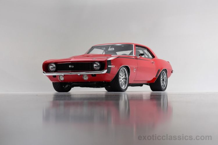 1969 Chevrolet Camaro SS 565 coupe classic cars red wallpaper