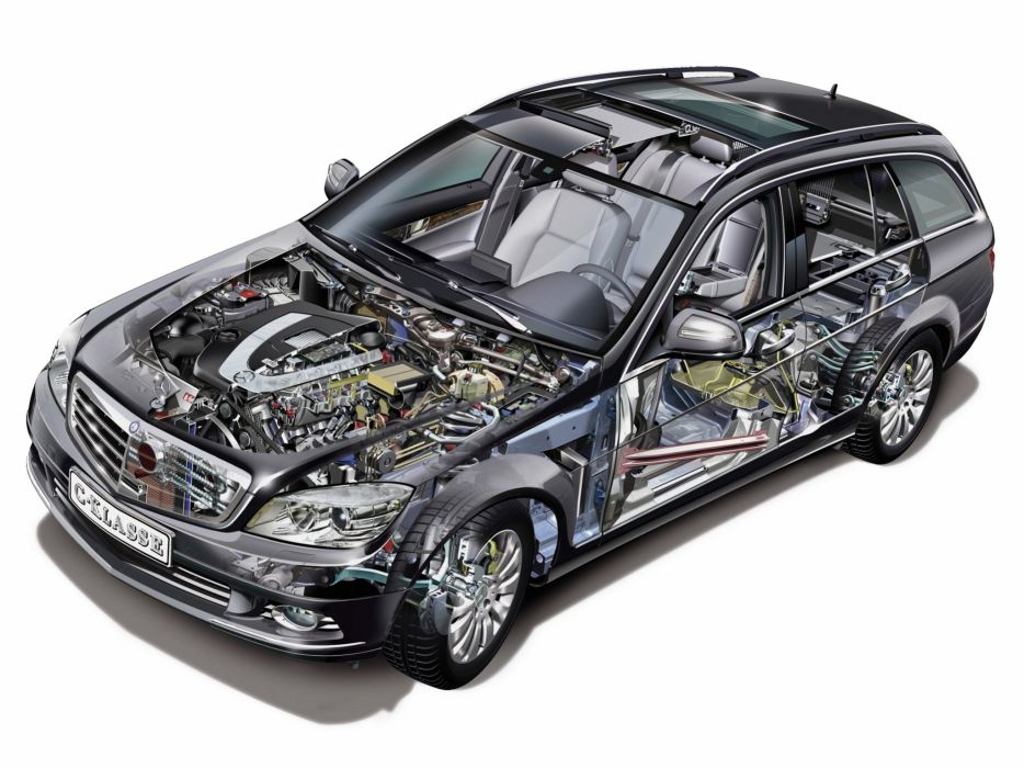 350 Estate cars technical cutaway 2007 wallpaper