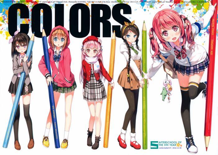 anime girls cute dress wallpaper