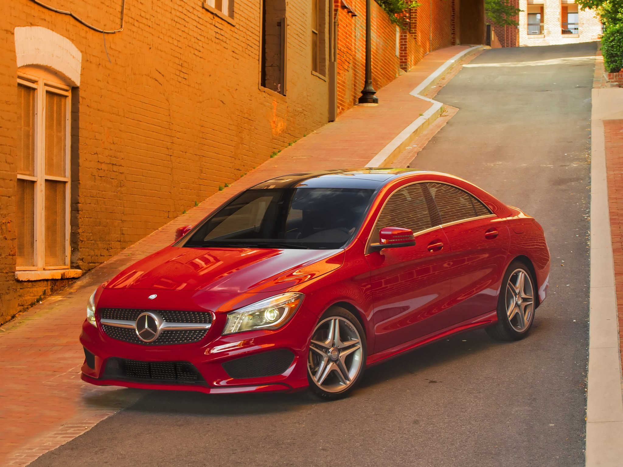 Mercedes benz cla 250 amg sports package us spec c117 cars for Red mercedes benz cla