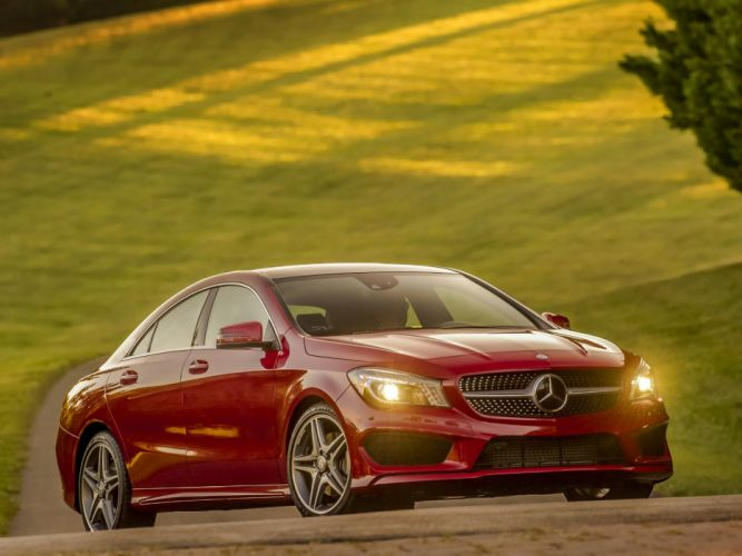 Mercedes Benz CLA 250 AMG Sports Package US-spec C117 cars 2013 red wallpaper