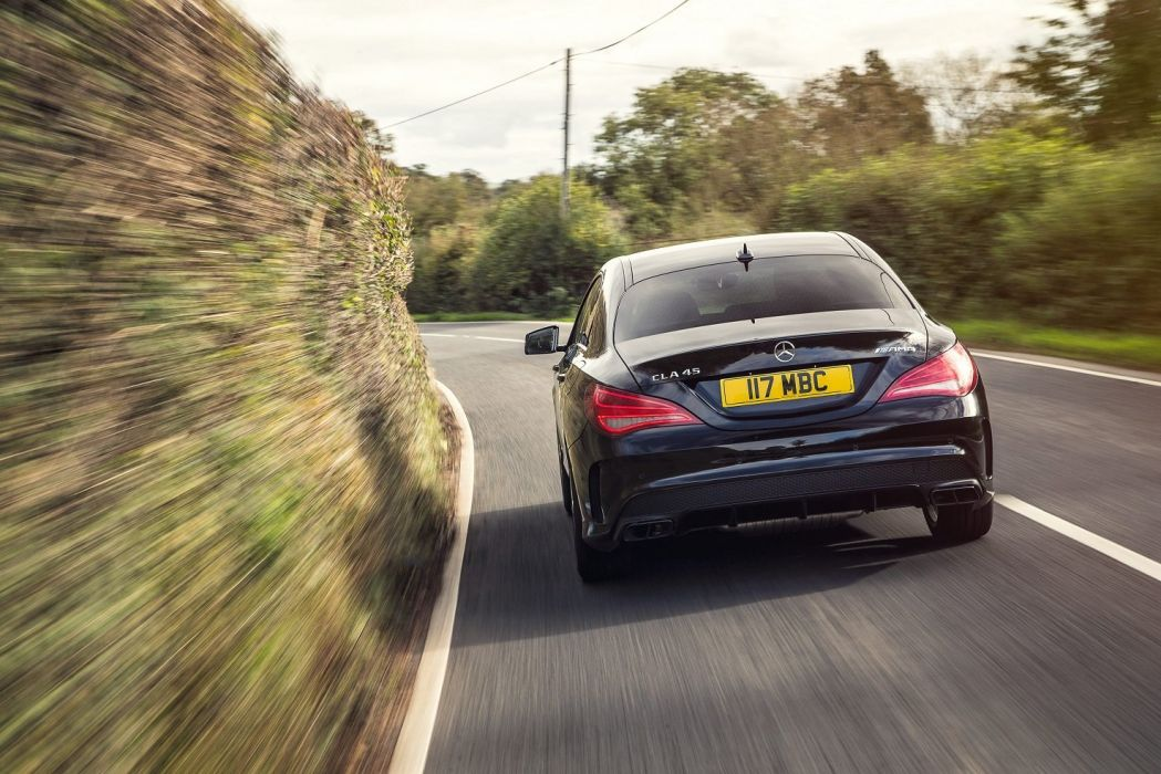Mercedes Benz CLA-45 AMG UK-spec C117 black '2013 wallpaper