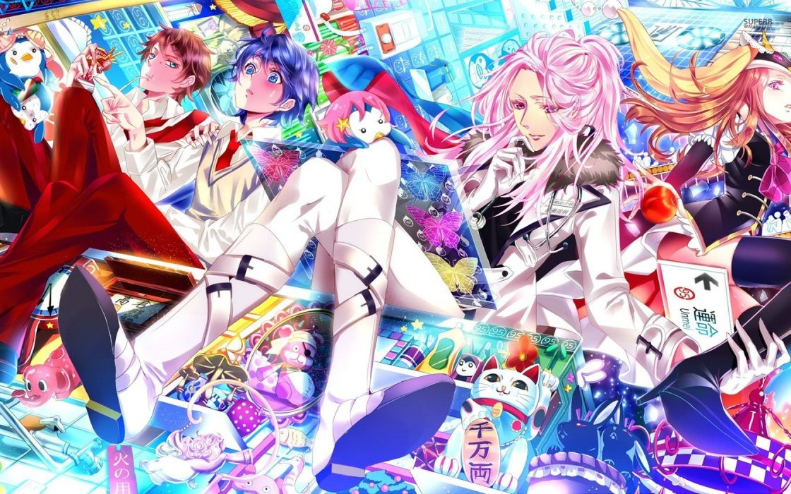 mawaru penguindrum anime series characters wallpaper