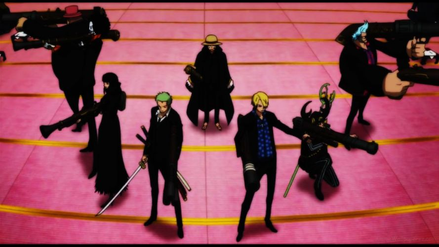 anime series characters one piece group wallpaper