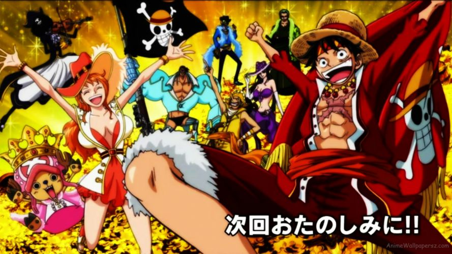 One Piece anime series characters wallpaper