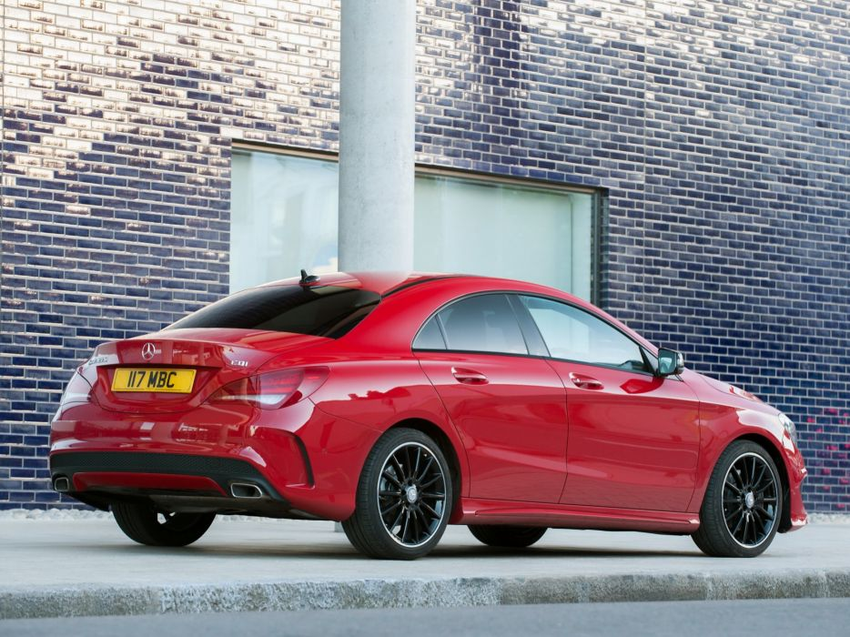 Mercedes Benz CLA 220 CDI AMG Sports Package UK-spec C117 cars red 2013 wallpaper