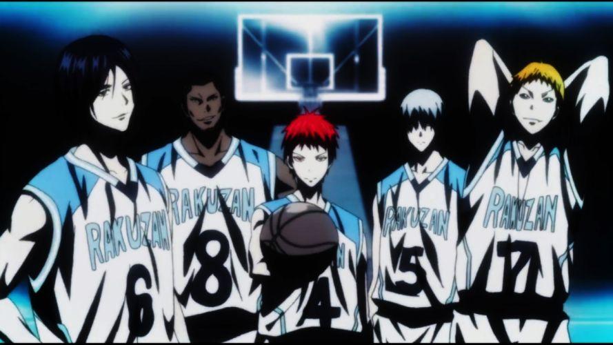 anime series group characters basketball team wallpaper