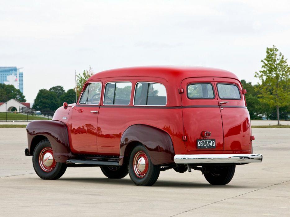 1952 Chevrolet 3100 Suburban van delivery classic cars wallpaper