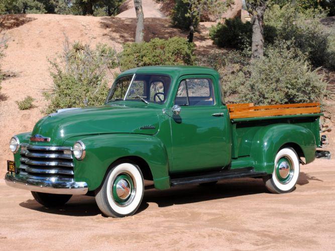 1953 Chevrolet 3100 Pickup Truck classic cars green wallpaper