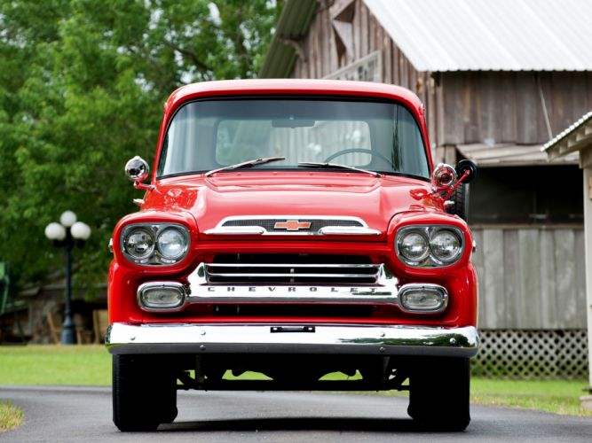 1959 Chevrolet Apache 31 Stepside Pickup Truck classic cars wallpaper